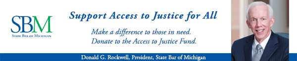 Important Message from Don Reockwell, President of the State Bar of Michigan