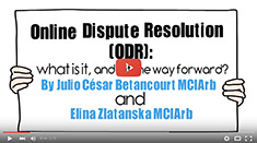 Julio César Betancourt & Elina Zlatanska. Online dispute resolution.