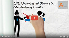 Uncontested divorce in Mecklenburg County.