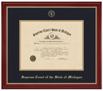 Framed Certificate of Admittance