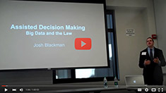 Josh Blackman. Assisted decision making big data & the law.