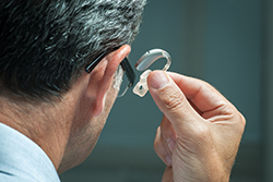 Placing a Hearing Aid